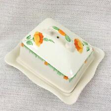 Art Déco Butterdose Käse Platte Glocke Abdeckung Handbemalt Klassisch China