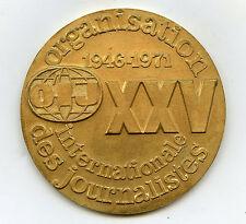 France OIJ XXV International Organization of Journalists 1971 Nice Grade !!!