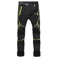 Men SOFT Shell Outdoor Trousers Thick Sugan Velvet Hiking Spots Pants Waterproof