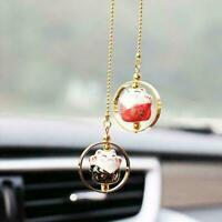 Car Rear View Mirror Lucky Cat Car Pendant Auto Accessories Hanging Decor Z E7H2