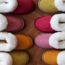 Merino Sheepskin Slippers Boots New Colours Yellow Red Green Pink