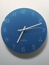 FlorLife Modern Hanging Wall Clock Silent Non Ticking Quality Quartz Glass