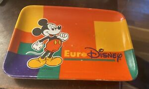 Euro Disney Small Plastic Tray Mickey Mouse