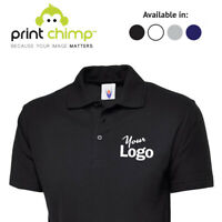 Embroidered Personalised Polo Shirt Printed Logo Custom | Workwear | Printing