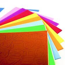 Foam Alphabet Capital Letters Self Adhesive Peel Stick Assorted Colours Sheets