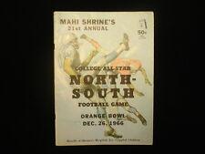 December 26, 1966 North vs. South College All-Star Game Program