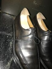 Berluti 9.5/10.5 Black/Grey Patina Men's Shoes Norvegese-Stitched Soles