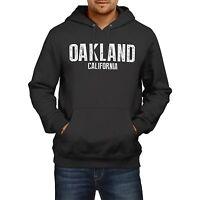 Oakland California SLOGAN Mens US State HOODIE America Football Hoody Sweatshirt