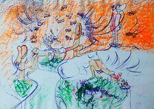 "ROBERTO MATTA 1969 ""Ite Ninfae"" Erotic Composition HAND SIGNED CHILE"