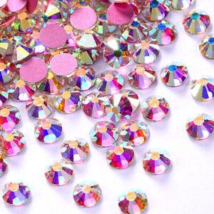 1440pcs Rose Gold Bottom Crystal Non Hotfix FlatBack Rhinestones DIY Nail Art
