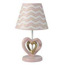 Baby Love Lamp Shade Bulb Nursery Decor Heart Pink White Gold Chevron Gift New