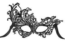 schwarze mystische Augenmaske Spitzen Gothic Venezianisch Maske Gesicht Karneval
