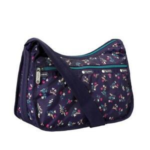 LeSportsac Classic Hobo Crossbody Bag in Yucca Purple Bouquet NWT