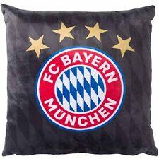 FC Bayern München Kissen Logo Plüsch FC Bayern München Plüschkissen Logo schwarz