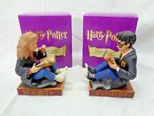 Harry Potter & Hermione Granger Bookends Enesco 2000 Warner Bros. - Mint In Box