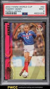 2002 Panini World Cup Korea Japan Thierry Henry #62 PSA 9 MINT