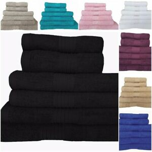 Towel Set 100% Cotton Bath Sheet Hand Large Bale 550 GSM Bathroom & 6 Piece Sets