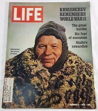 Life Magazine December 4 1970 Johnnie Walker Singer Sewing Machine RCA ad