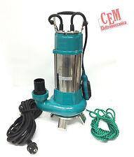 Pompa sommersa VORTEX 1,5 Hp elettropompa per acque sporche e cariche XSP 20 9 m