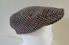 Mens TWEED wool mix  FLAT CAP peaky blinders Herringbone  M/L