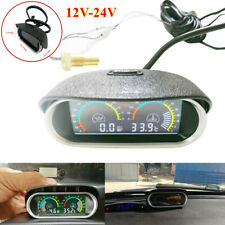 12V-24V Car SUV LCD Digital Water Temperature Oil Pressure Gauge Panel w/Sensor