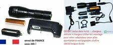 Lampe Torche LED XML-T6 ultra Puissante Zoom Militaire Tactique Police 10000lm