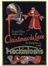 1934 CHRISTMAS CANDY ADVERTISEMENT: MACKINTOSH'S TOFFEE CHOCOLATE - SANTA CLAUSE