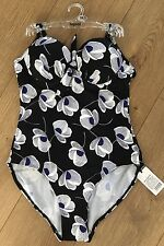 Lepel Hello Sailor Swimsuit 32C Black Blue And White BNWT