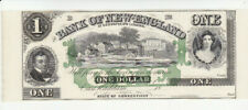 1 DOLLAR UNC REMAINDER BANKNOTE FROM USA/BANK OF NEW ENGLAND 18.. RARE