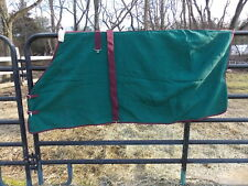 Waffle Sheet Cooler Cotton Size 76 Hunter Green With Burgandy Binding