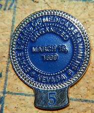 """NEVADA STATE BOARD OF MEDICAL EXAMINERS 5 YEAR? SILVERTONE METAL 1"""" LAPEL PIN"""