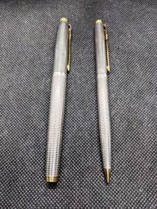 Parker 75 Sterling Silver Fountain Pen & Penci Nib Medium Gold 14K (Made in USA)