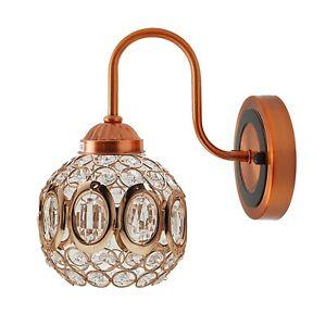 Crystal LED Wall Light Lamp Bedroom Living Room Home Decor Sconce NEW UK