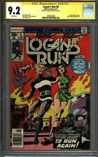 * LOGAN'S Run #6 CGC 9.2 Signed Mike Zeck 1st solo THANOS! (1961003008) *