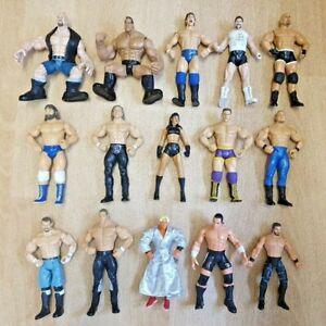 Bundle of 15 x WWE WWF WCW WRESTLING FIGURES - Jakks - Titan (Lot 5)