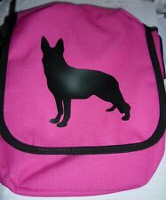 German Shepherd Bag Slight Second Imperfect Reporter Dog Walker Bag Bright Pink