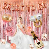 32pcs Rose Gold Foil Balloon Bride To Be Banner Hen Party Wedding Decor Supplies