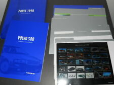 VOLVO S80 dossier de presse media press kit - édition Mondial Paris 1998