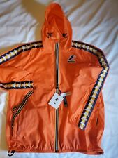 K-WAY Jacket Mens 2XL  Hooded  Shell Orange NWT packable windbreaker