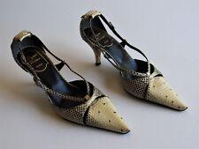 Roger Vivier Python Snakeskin Pointy Toe Heels Size 6.5 US/ Euro 37 $1595 NEW