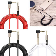 3.5mm Jack Audio Lead Aux Cable 90 Degree Right Angle Flat for ipod car MP3 PC