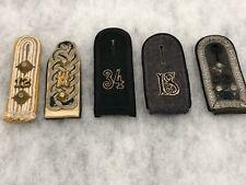 Original German Wwii Heer Shoulder Board Lot Of 5