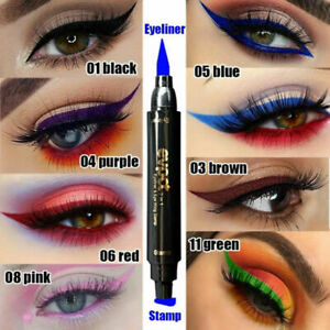 Waterproof Colorful Winged Eyeliner Stamp Lasting Liquid Makeup Pen Tool in US