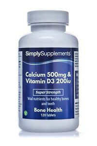 Calcium and Vitamin D Tablets | High Strength Calcium Carbonate for Bone Health