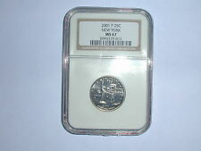2001-P 25C New York State Quarter NGC MS 67