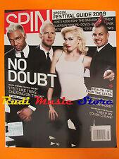 rivista SPIN Maggio 2009 No Doubt Dennis Sobin Mastodon Jane's Addiction No cd