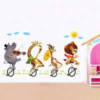 Animals Riding Bedroom Home Decor Removable Wall Stickers Decals Decoration*