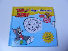 CHILDRENS KIDS TOM & JERRY MAGIC COLOUR BOOK - PULL THE TABS TO SHOW THE COLOUR