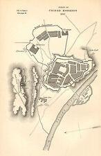 GUERRA D'INDIPENDENZA SPAGNOLA Mappa/piano di battaglia BATTAGLIA ~ Assedio di Ciudad RODRIGO 1812