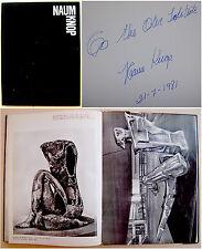 Argentina SIGNED INSCRIBED EDITION Sculptor NAUM KNOP Jewish ART BOOK Judaica